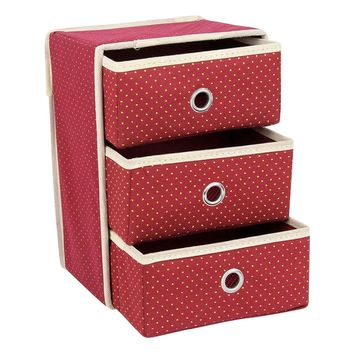 Non-woven Three Layer Tree Drawer Underwear Classified Storage Box Sundries Container Organizer
