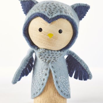 Lars the Owl - Wooden Animal Dolls by ZooModern