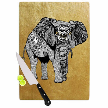 "Pom Graphic Design ""Golden Elephant"" Cutting Board"
