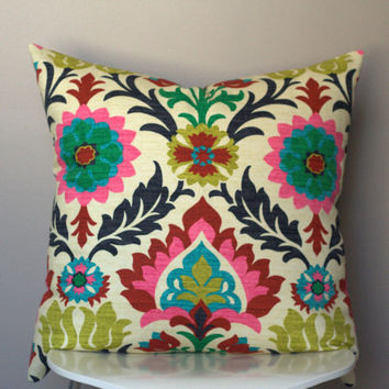 Waverly Santa Maria Desert Flower decorative pillow cover (colorful ethnic floral pattern)