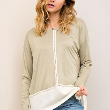Spring Break Top - Olive