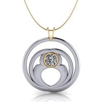 Twin Souls Pendant Necklace Celestial Premier Moissanite .33 CTW
