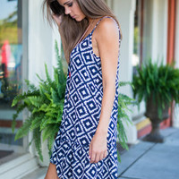 Journey To Find Your Center Dress, Navy