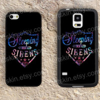Sleeping with Sirens iphone 4 4s iphone  5 5s iphone 5c case samsung galaxy s3 s4 case s5 galaxy note2 note3 case cover skin