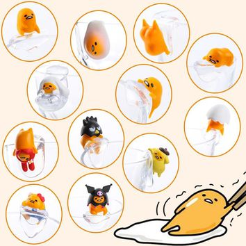 Japanese original capsule toys cute 12 sets mini Gudetama on the edge of cup PUTITTO glass gashapon figures Toy Collectible
