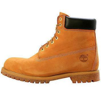 TIMBERLAND MEN'S 6 PREMIUM WATERPROOF LEATHER BOOT WHEAT 10061 SELECT SIZE