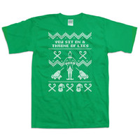 Funny Christmas Gifts Buddy The Elf T Shirt You Sit On A Throne Of Lies Ugly Christmas Shirt Elf Quotes Holiday Gift Ideas Xmas Gifts DN-254