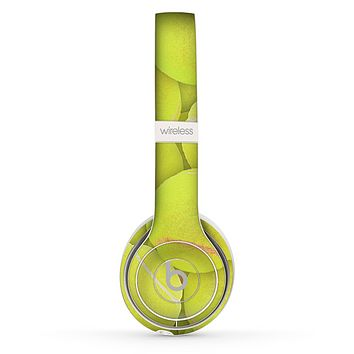 The Tennis Ball Overlay Skin Set for the Beats by Dre Solo 2 Wireless Headphones