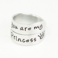 You are my princess crown ring - Daughter gift - Ring for daughter - Girlfriend ring - Gift for wife - Gift for her