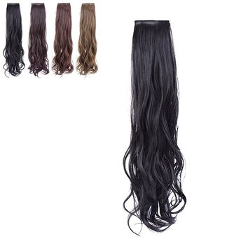 New 2 Clip/Set Wigs Girl Lady Long Curly Ponytail Hair Natural Ladies Hairpiece