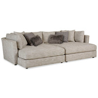 Leonora Sectional Sofa w/ 2 Chaises & 6 Toss Pillows, Only at Macy's - Sectional Sofas - Furniture - Macy's