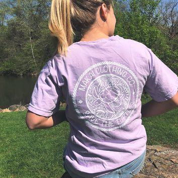 Lilac Pocketed Paisley Rope Tee