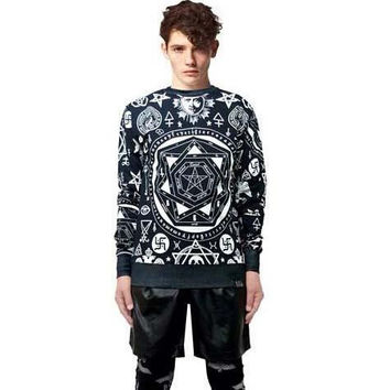 2015 Autumn Winter Cool Hoodies For Men Crew Neck Sweatshirts Plus Size Clothing New Long Sleeve Casual Cheap Pullover Skull Hoodies C36