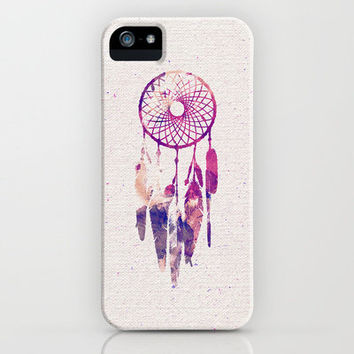 Girly Pink Purple Dream Catcher Watercolor Paint iPhone Case by Railton Road | Society6