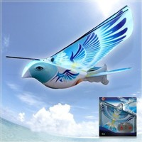 SNOW@Amazing Flapping-Wing Aircraft R/C Flying Robot E-Bird Toy (Blue)