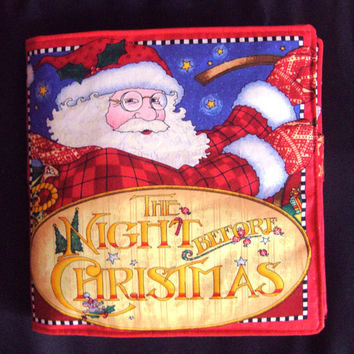 The Night Before Christmas Cloth Baby Book Christmas Toddler Books