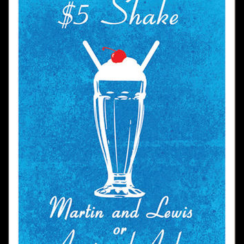 15% Off Independence Day Sale! Five Dollar Shake - Pulp Fiction Inspired - Movie Art Poster