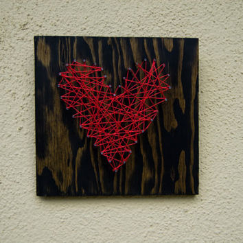 Heart Nail Wall Art 8x8 by itsetsybybetsy on Etsy