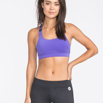 Hurley Beach Active Nike Dri-Fit Compression Bra Purple  In Sizes
