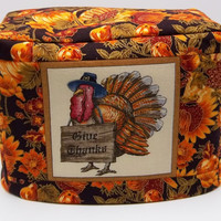 Thanksgiving Toaster Cover, Two Slice Toaster Cover, Autumn Harvest, Turkey Toaster Cover