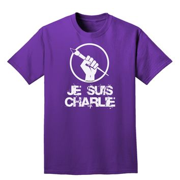 Je Suis Charlie Adult Dark T-Shirt