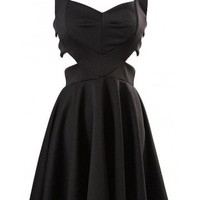 Cut Out Skater Dress - Kely Clothing