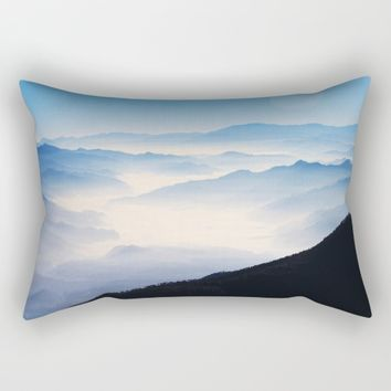 Inhale Rectangular Pillow by Mixed Imagery