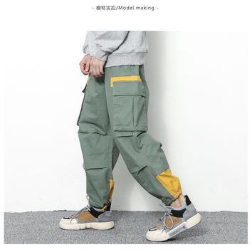 2018 Men Joggers Hip Hop Harem Sweat Pants Casual Loose Long Pants with Pocket Hip Hop Army Green Teens Trousers  Fashion Cool+
