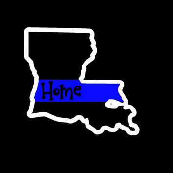 Louisiana Home Back The Blue Police Lives Matter Decal - Yeti Decal - Car Decal - Support - Police Wife - Police Family - Back The Blue