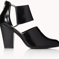 FOREVER 21 Sleek Cutout Booties