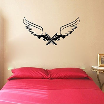 Guns and Wings Vinyl Wall Decal Sticker Graphic