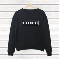 Fashion Plus Size Women's Fashion Alphabet Print Stylish Casual Autumn Long Sleeve Hoodies [7767274503]
