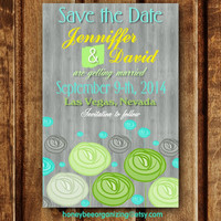 Printable Wedding Save the Date Invitation - Printable Save the Date - Digital Wedding Invitation - Digital Save the Date - 4 x 6''