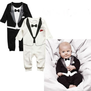 Newborn 1pcs baby boys girls bodysuit baby boys girls One Piece jumpsuit one piece -IC = 1958152516
