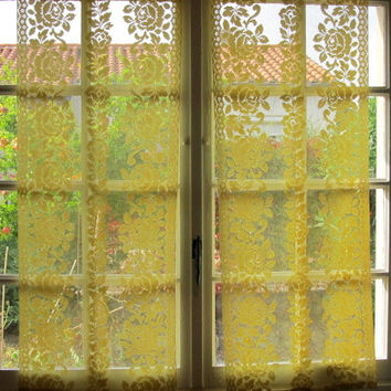 Shop French Lace Curtain On Wanelo