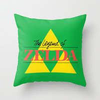 The Legend of Zelda Throw Pillow by Shea Kennedy