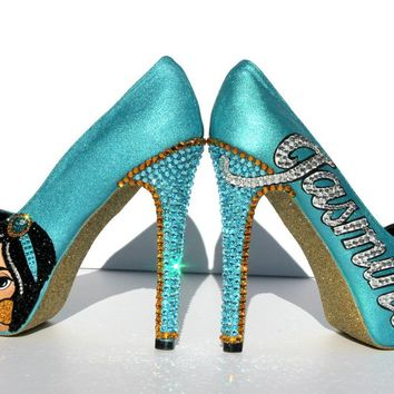 """Princess Jasmine"" Hand Painted Custom Shoe"