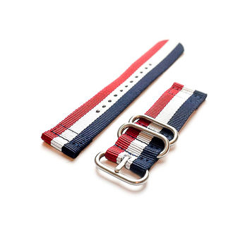 Smart Watch Strap Red White and Navy