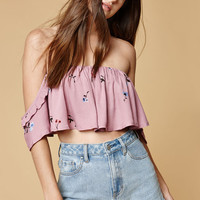 Honey Punch Off-The-Shoulder Crop Top at PacSun.com