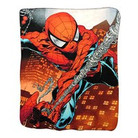 Spiderman Web Swing Fleece Blanket