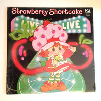Sealed Vinyl Album Strawberry Shortcake Live Eighties Kids Music Childrens Songs New York New York