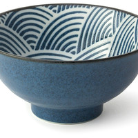 "Seigaiha Bowls, 6.25"", Set of 6, Serving Bowls"