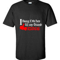 I Bang Ditches Till My Thumb Twitches Snowmobile Fan Design - Unisex Tshirt
