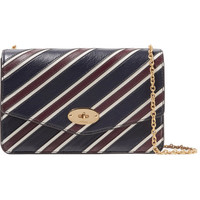 Mulberry - Darley striped textured-leather shoulder bag