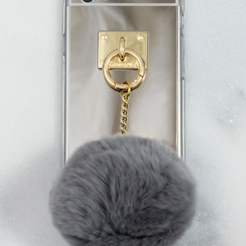 Grey Fuzzball iPhone Case