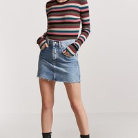 Stripe Sweater-Knit Top
