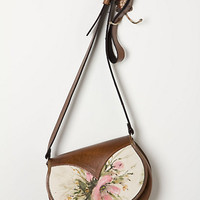 Handpainted Floral Crossbody Bag