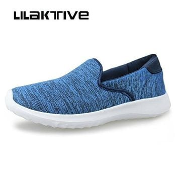Women loafers flats outdoor walking shoes women super light weight breathable sport solid sneakers lady slip-on flats shoes