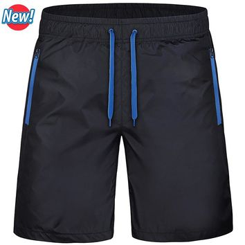 Beach Men's Shorts Leisure Sea Men Board Shorts Fast Dry Elastic Waist Shorts Activewear 6 Colors 4XL Loose Shorts Plus Size