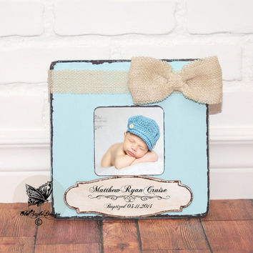 Baptism Gift BOY Christening Gift BOY Godchild Gift Godson Gift Baby Shower Gift Custom Personalized Picture Frame Godmother gift Godparents